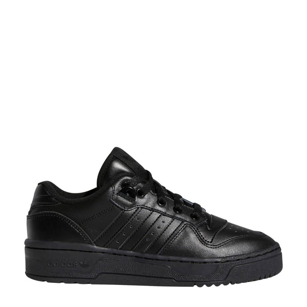 adidas Originals Rivalry Low J  leren sneakers zwart, Zwart