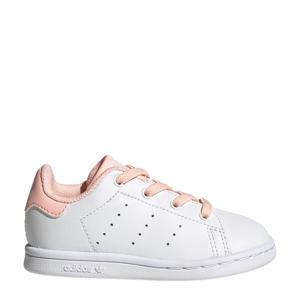 STAN SMITH EL I leren sneakers wit/roze