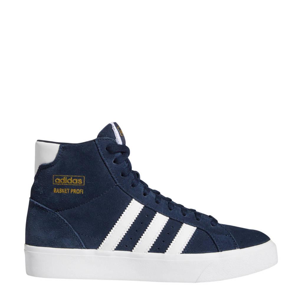 adidas Originals Basket Profi J suede sneakers donkerblauw/wit, Donkerblauw/wit