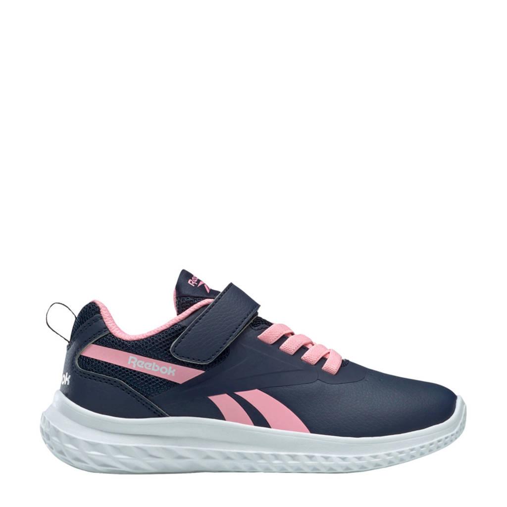 Reebok Training Rush Runner  hardloopschoenen donkerblauw/roze/zilver, Donkerblauw/roze/wit