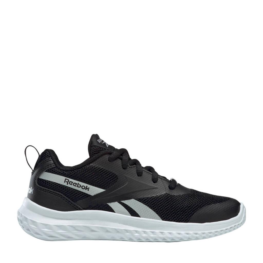 Reebok Training Rush Runner 3 hardloopschoenen zwart/wit/zilver kids, Zwart/wit/zilver