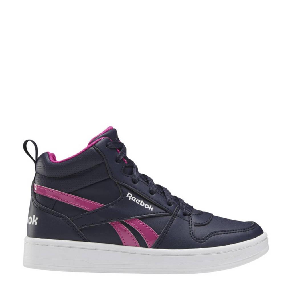 Reebok Classics Royal Prime Mid 2 sneakers donkerblauw/fuchsia/wit, Donkerblauw/fuchsia/wit