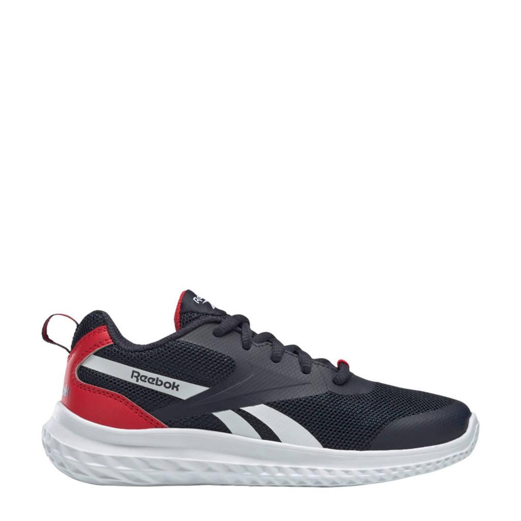 Reebok Training Rush Runner 3 hardloopschoenen donkerblauw/rood/wit jongens, Donkerblauw/rood/wit