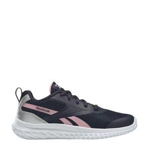 Rush Runner 3 hardloopschoenen donkerblauw/roze/zilver meisjes