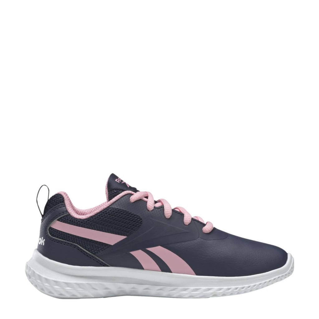 Reebok Training Rush Runner 3 hardloopschoenen donkerblauw/roze/wit meisjes, Donkerblauw/roze/wit