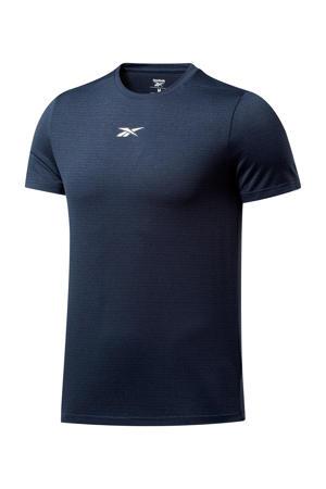 sport T-shirt donkerblauw