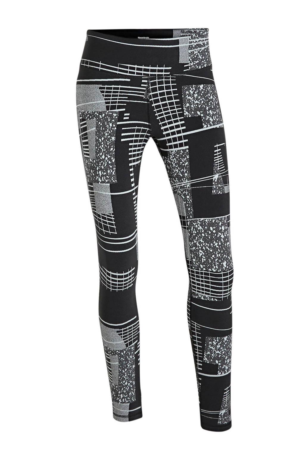 Reebok Training sportbroek zwart/grijs, Zwart/grijs