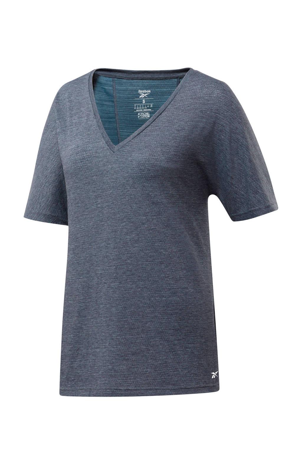 Reebok Training Plus Size sport T-shirt grijs, Grijs
