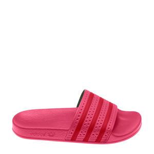 Adilette  badslippers roze/rood