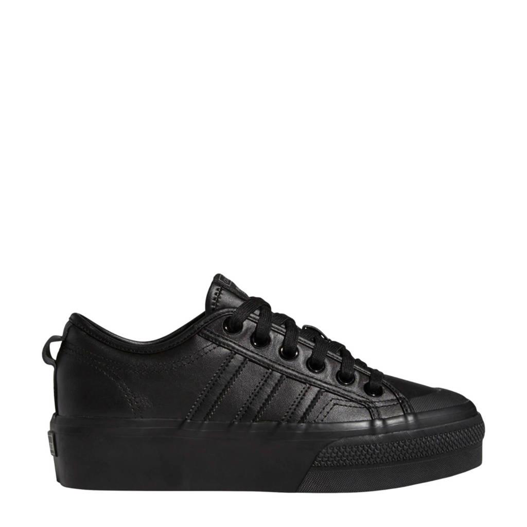 adidas Originals Nizza Platform  sneakers zwart, Zwart
