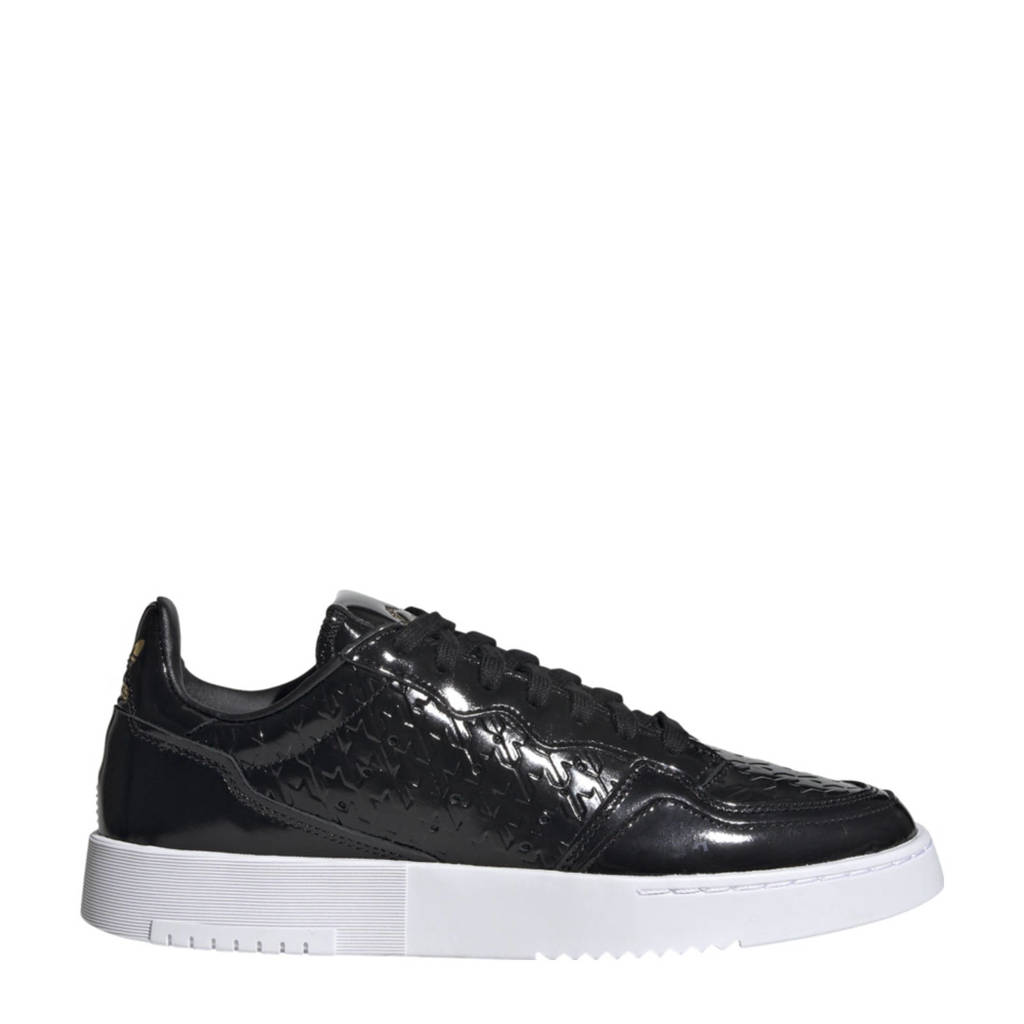 adidas Originals Supercourt  leren sneakers zwart/goud/wit, Zwart/goud/wit