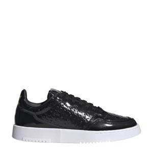 Supercourt  leren sneakers zwart/goud/wit