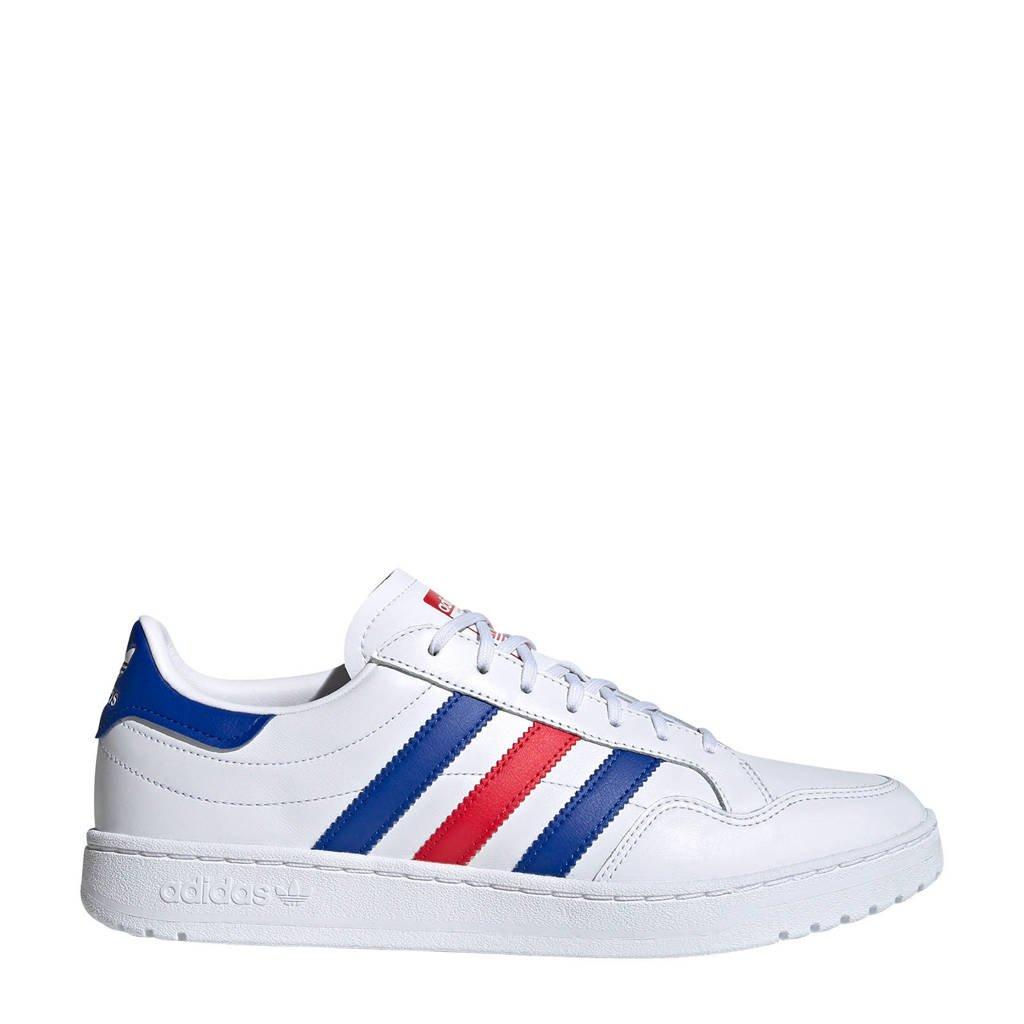 adidas Originals Team Court  sneakers wit/kobaltblauw/rood