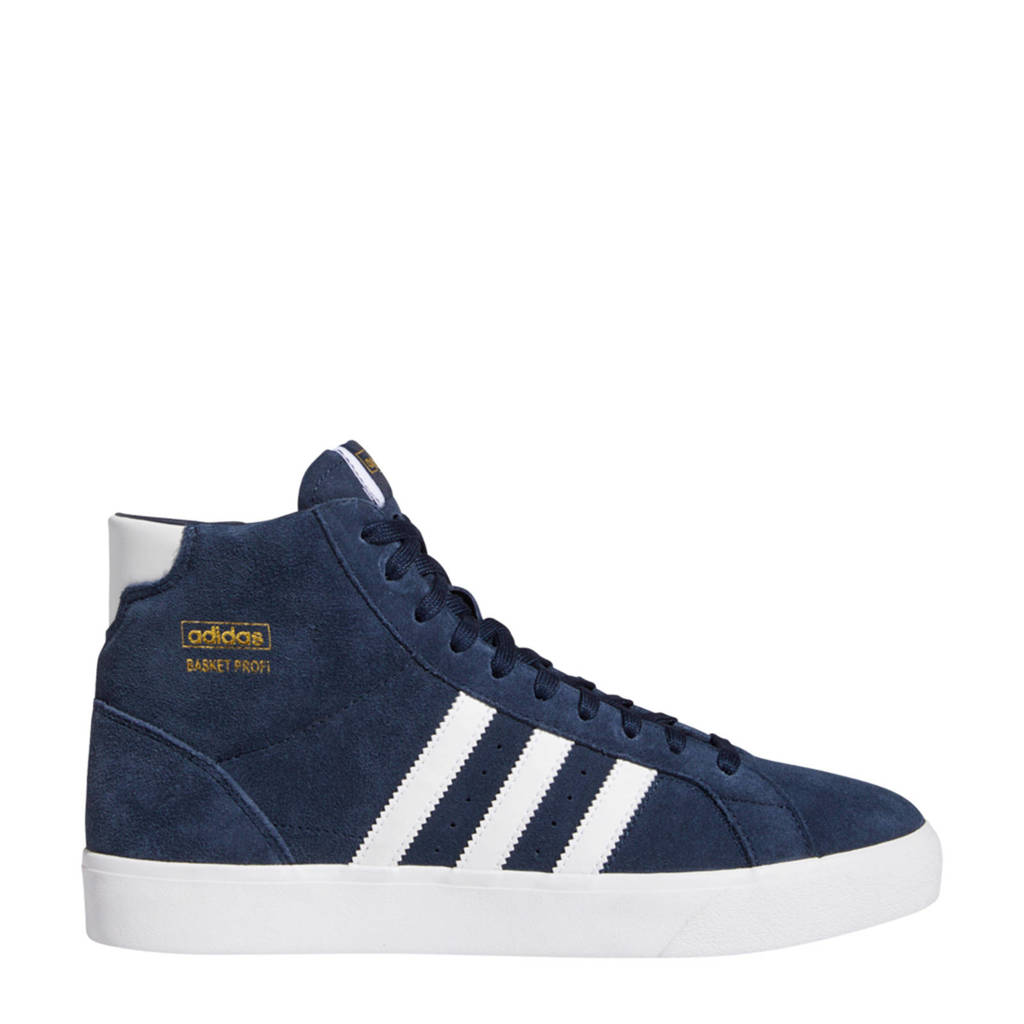 adidas Originals Basket Profi  suede sneakers donkerblauw/wit, Donkerblauw/wit