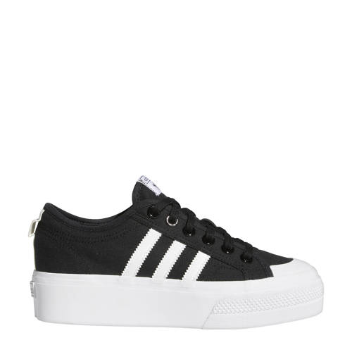 adidas Originals Nizza Platform sneakers zwart-wit