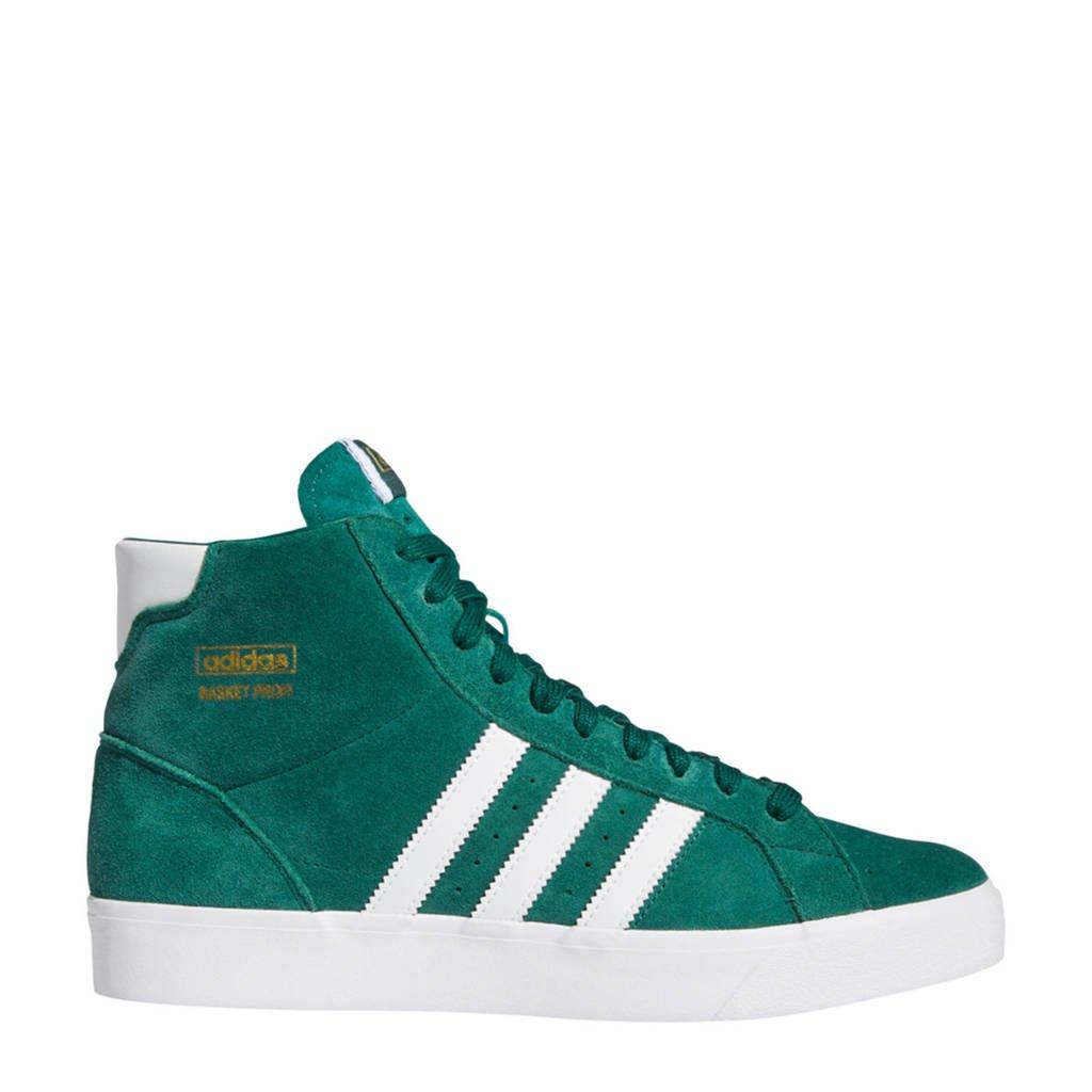 adidas Originals Basket Profi  suede sneakers groen/wit, Groen/wit