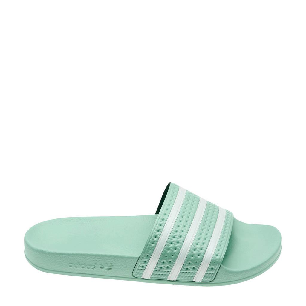 adidas Originals Adilette  badslippers mintgroen/wit, Mintgroen/wit