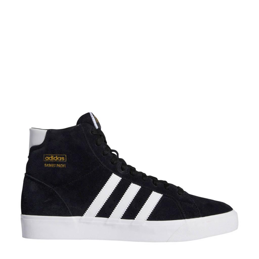 adidas Originals Basket Profi  suede sneakers zwart/wit, Zwart/wit