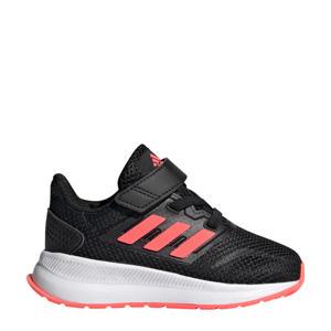 Run Falcon  hardloopschoenen zwart/roze kids