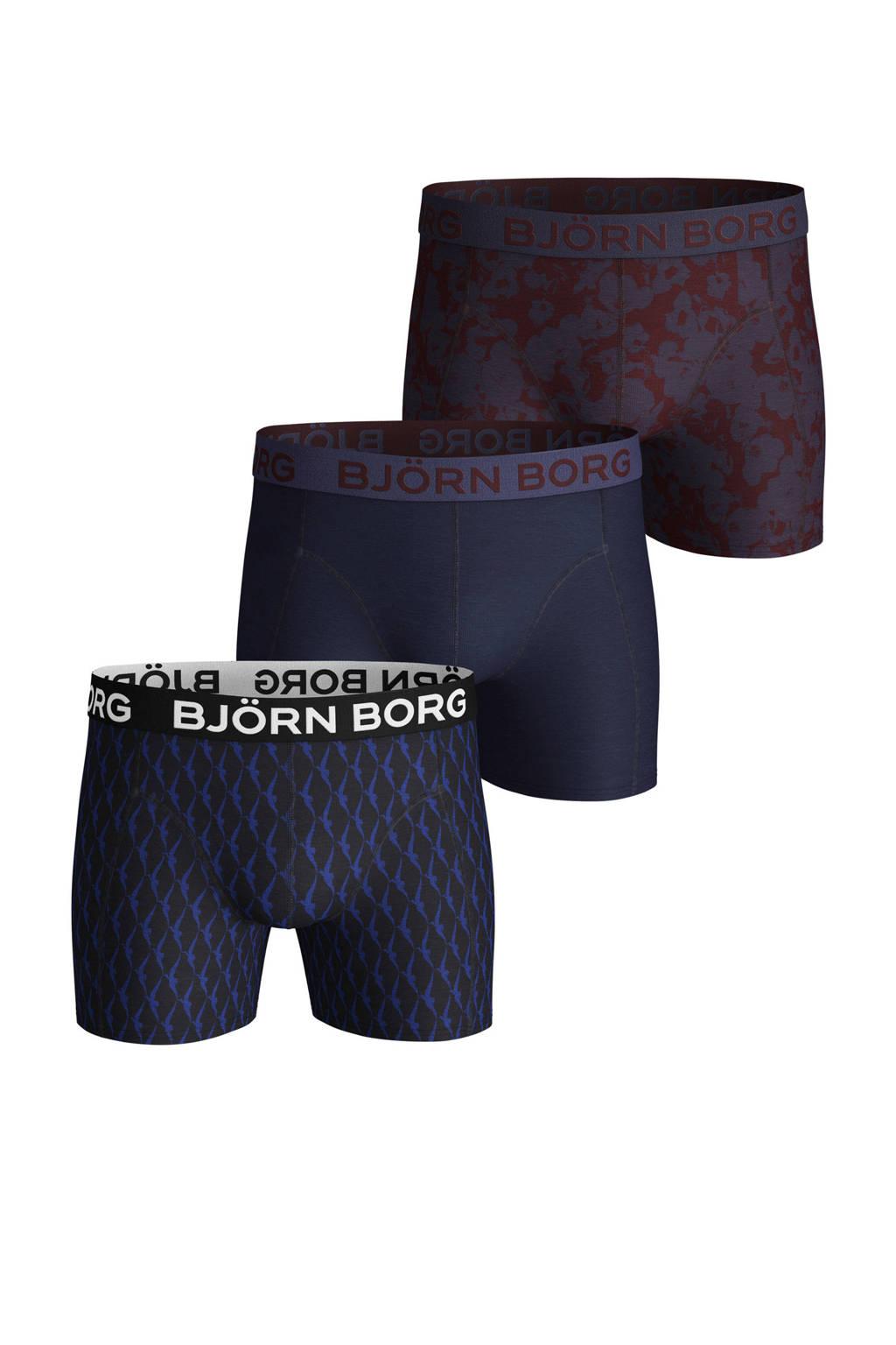 Björn Borg boxershort (set van 3), Donkerblauw