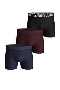 Björn Borg boxershort (set van 3), Zwart/donkerrood/donkerblauw