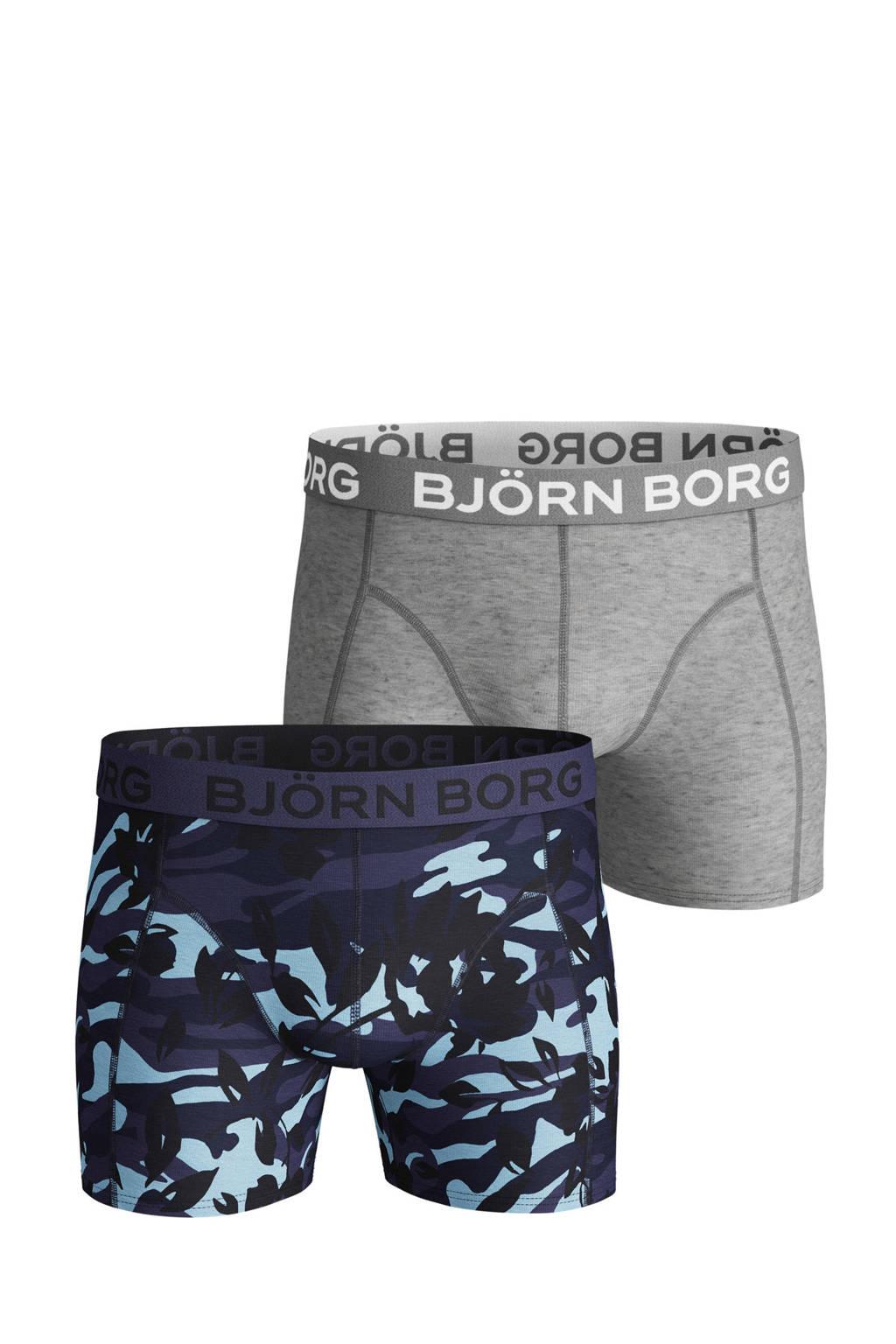 Björn Borg boxershort (set van 2), Grijs/donkerblauw
