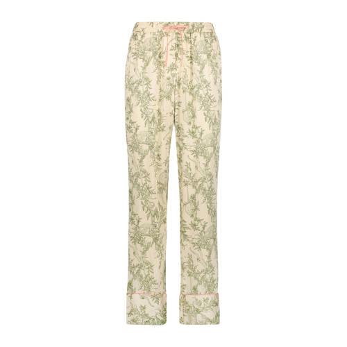 Hunkem??ller pyjamabroek met all over print beige