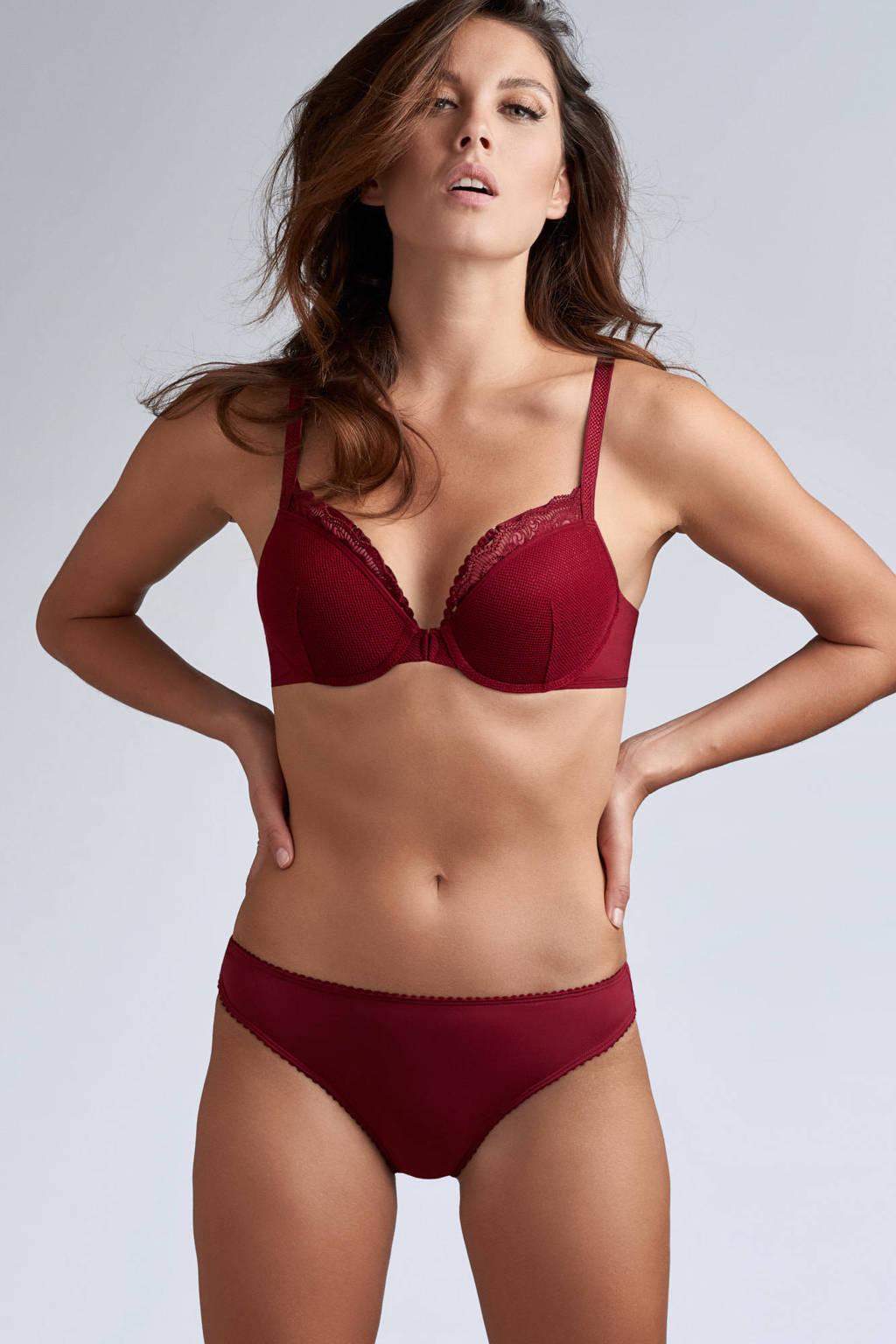 marlies dekkers Style push-up bh The Mauritshuis donkerrood, Donkerrood