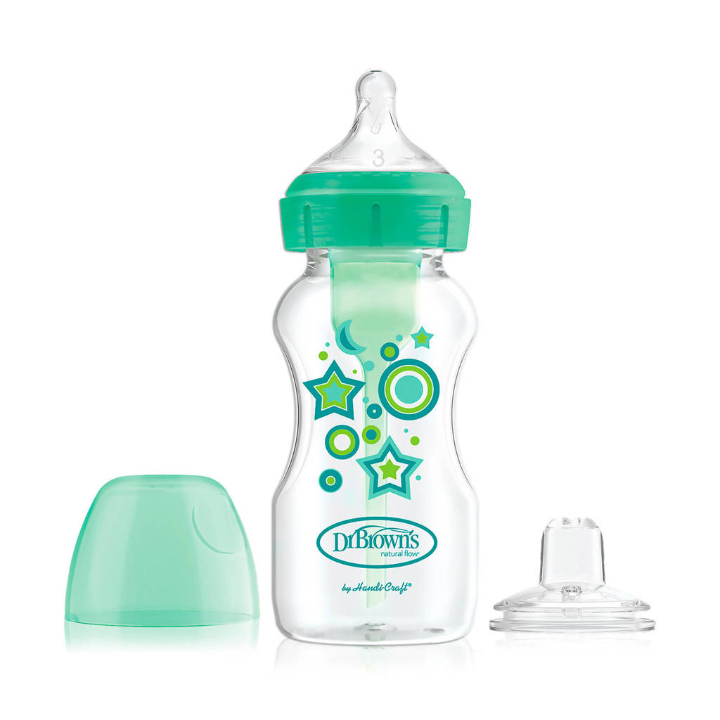 Dr. Brown's Dr. Brown's Options + Bottle to Sippy starterkit BH 270 ml groen, Groen