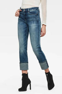 G-Star RAW high waist straight fit jeans faded azurite, Faded azurite