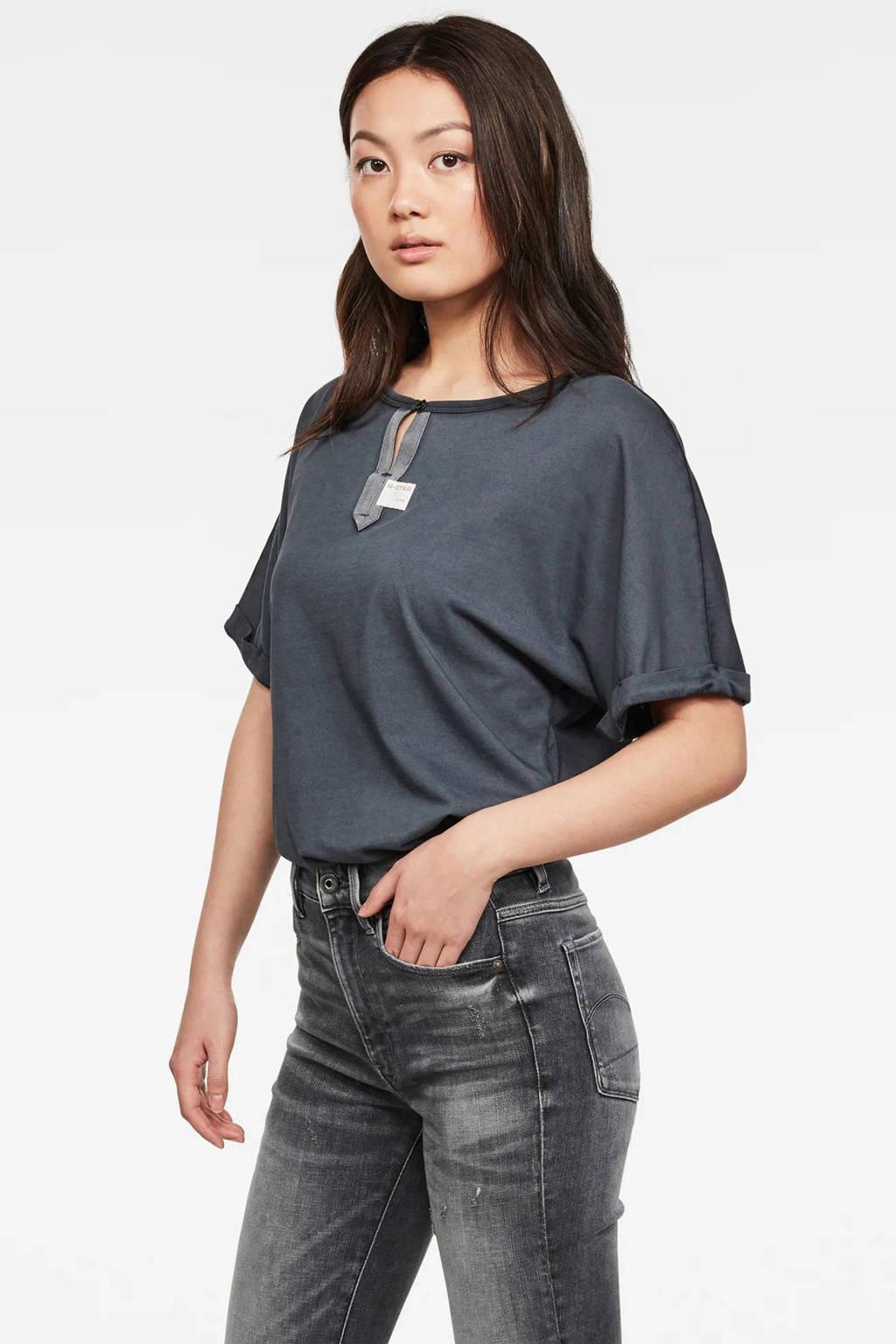 G-Star RAW T-shirt Joosa van biologisch katoen antraciet, Antraciet