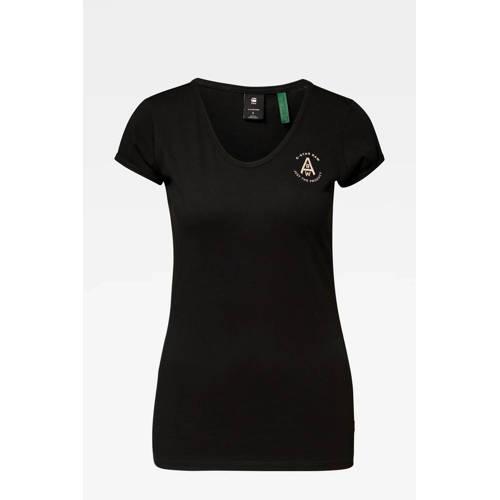 G-Star RAW T-shirt van biologisch katoen zwart