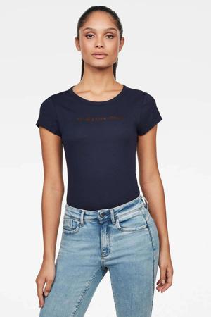 T-shirt Eyben van biologisch katoen sartho blue