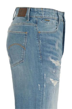 Janeh cropped high waist mom jeans met biologisch katoen sun faded prussian blue restored