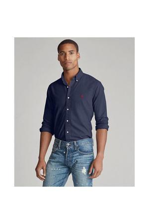 +size regular fit overhemd donkerblauw