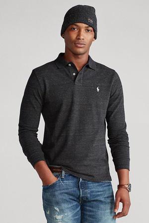 +size gemêleerde regular fit polo zwart