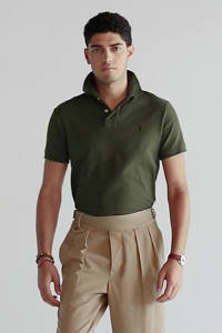 POLO Ralph Lauren Big & Tall +size slim fit polo olijfgroen, Olijfgroen