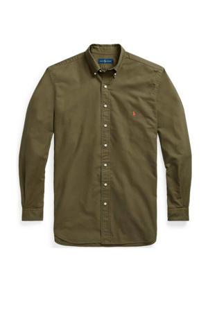 +size regular fit overhemd olijfgroen
