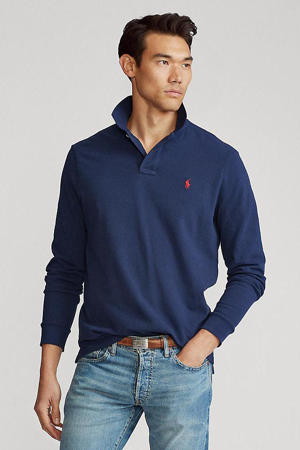 +size regular fit polo marine