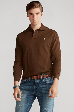 +size regular fit polo bruin