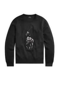 POLO Ralph Lauren Big & Tall +size longsleeve met printopdruk zwart, Zwart