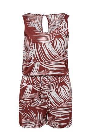 jumpsuit met all over print rood/wit