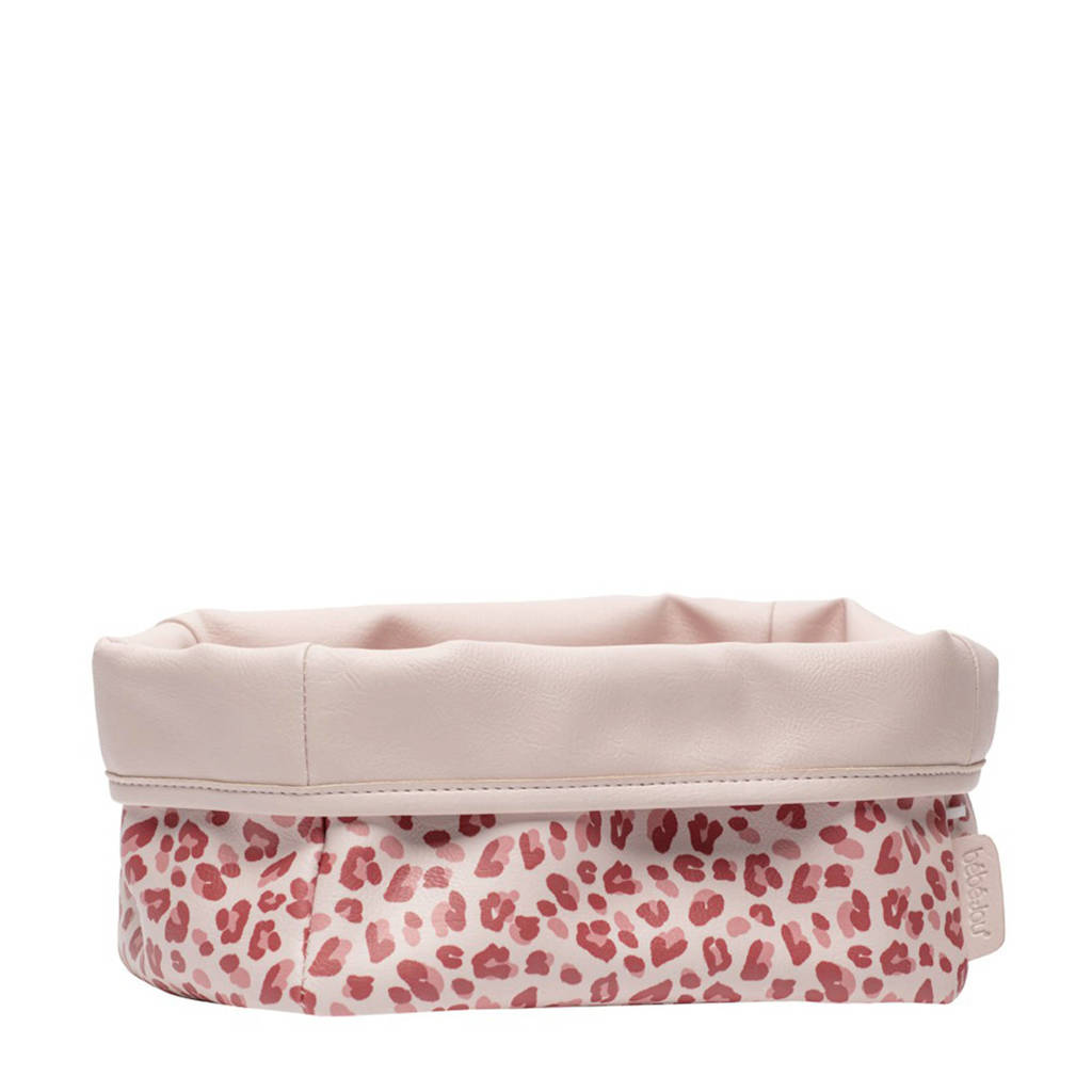 bébé-jou verzorgingsmandje Leopard Pink