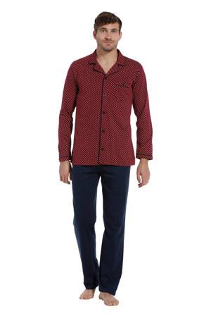 pyjama donkerrood/donkerblauw
