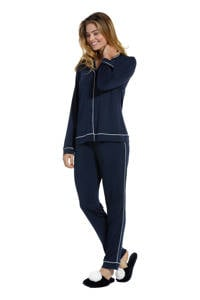 Pastunette Deluxe pyjama donkerblauw, Donkerblauw