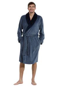 Pastunette for men fleece badjas blauw, Blauw