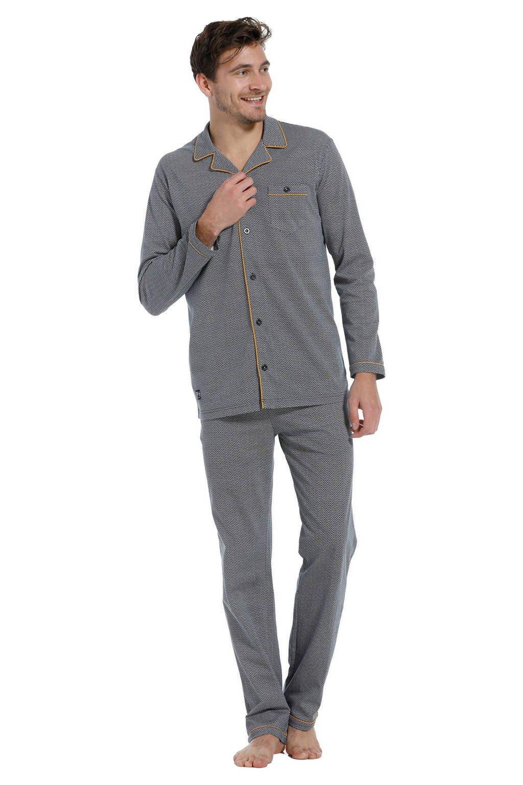 Pastunette for men pyjama grijs, Grijs