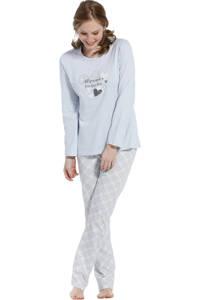 Pastunette pyjama met printopdruk lichtblauw, Lichtblauw