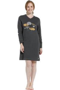 Pastunette nachthemd met printopdruk donkergrijs, Donkergrijs