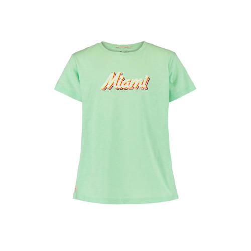 America Today Junior T-shirt Ester met tekst licht